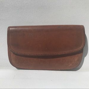 Vintage COACH Brown flap Wallet British tan